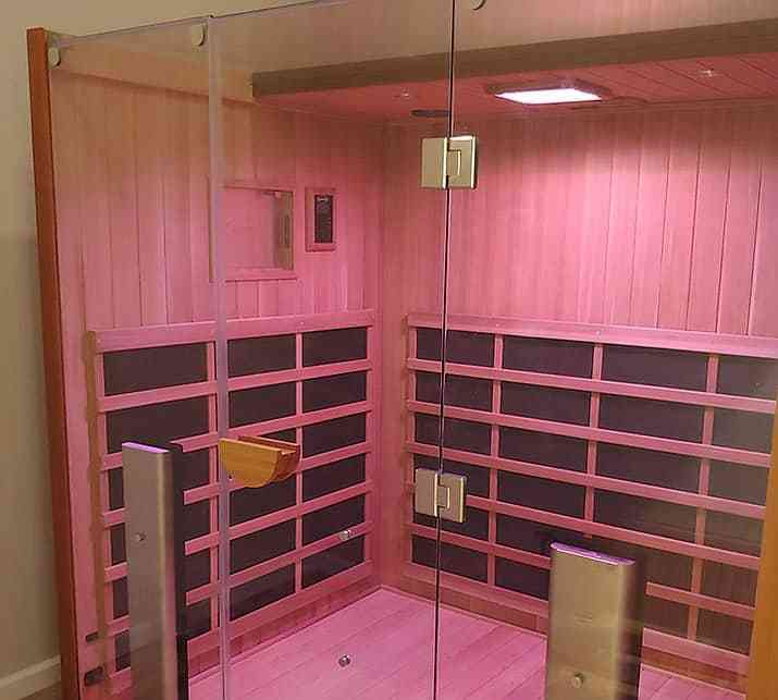 pink light Jacuzzi Infrared Sauna Store in Whitby, Ontario